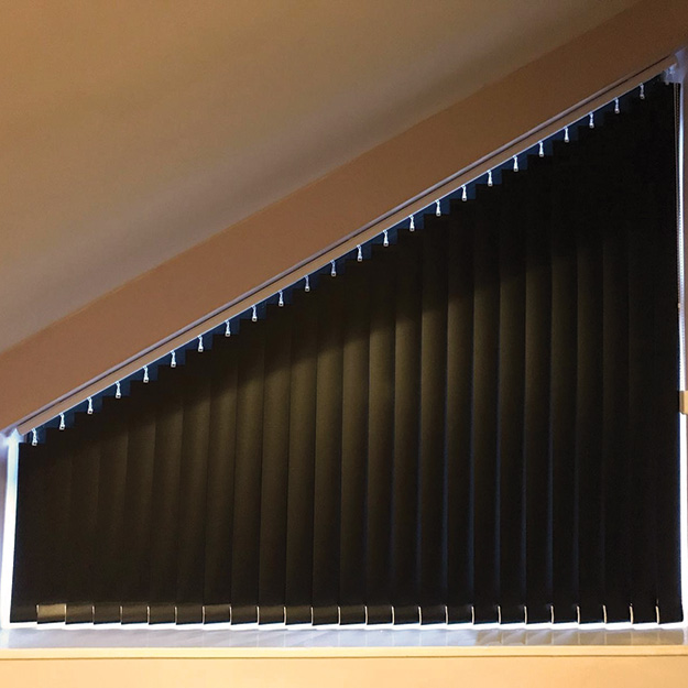 Sloped Vertical Blind Black