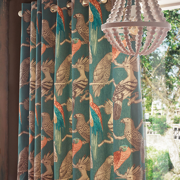Bird Pattern Curtains
