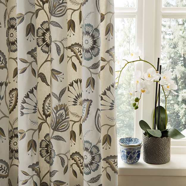 Flower Pattern Curtains