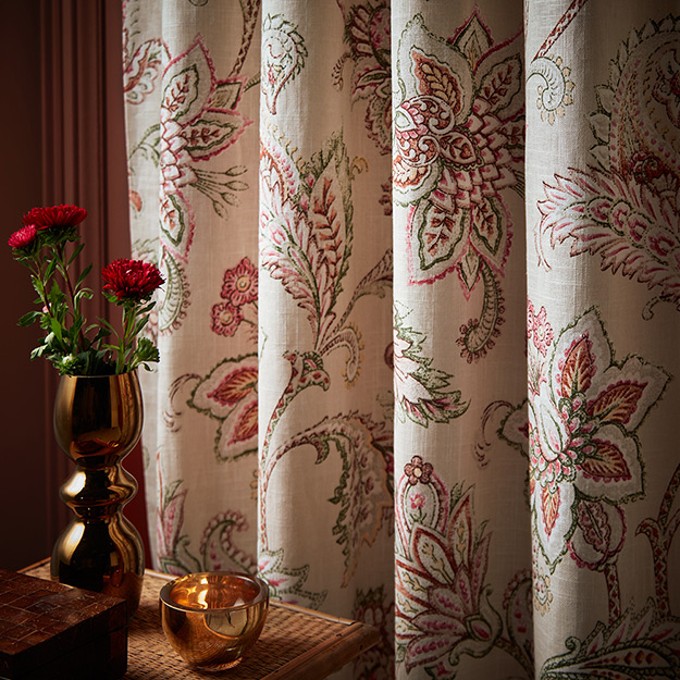 White flower pattern Curtains