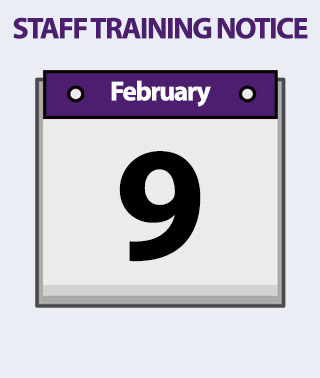 Staff Training Notice