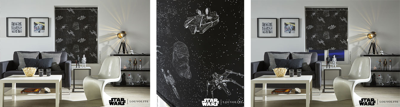 Darth Vader Millennium Falcon blackout blind