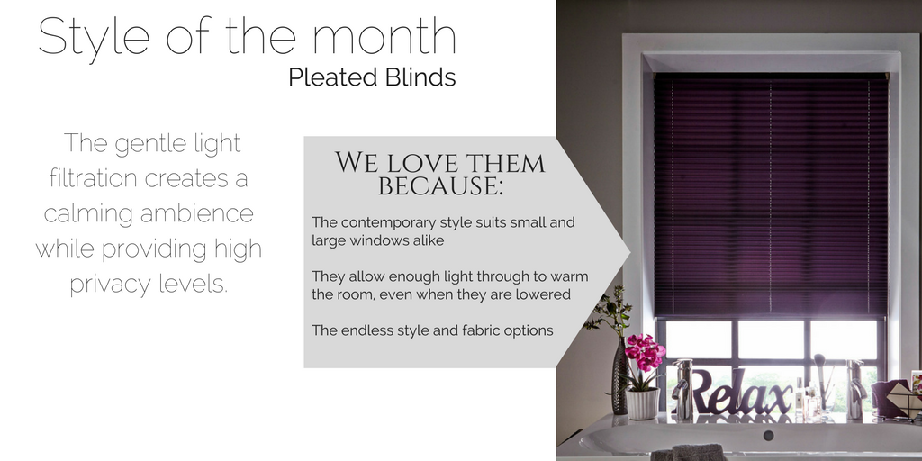 Style of the Month November - Pleated Blinds