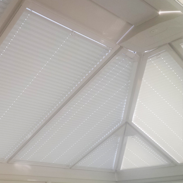 Made to measure conservatory roof blinds