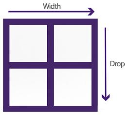 Window measurement resized guide
