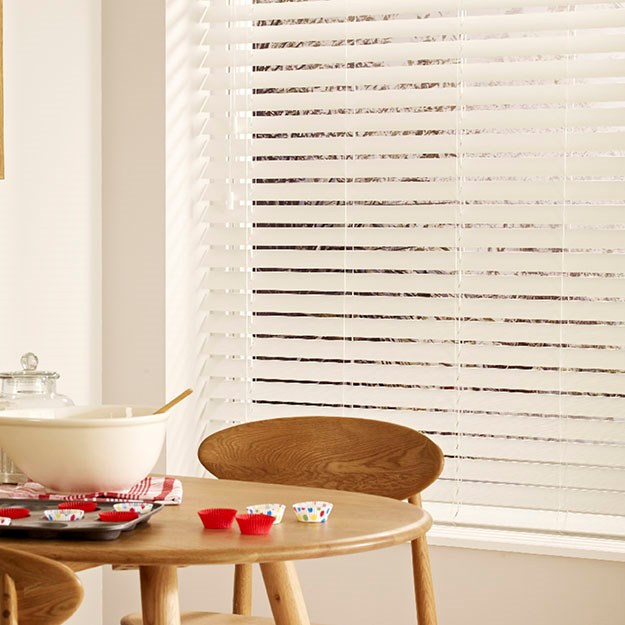 Pure White Faux Wood Blind