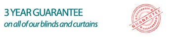 3 Year Guarantee from Blinds and Curtains Online