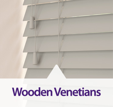 Wooden Venetians made bespoke to order