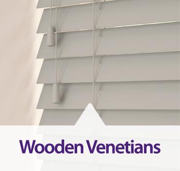 Wooden Venetians made bespoke to order