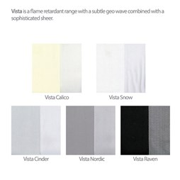 Vista Snow Allusion Voile Blind