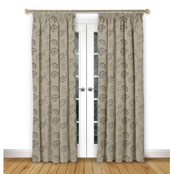 Alderney Grape pencil pleat curtain