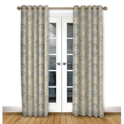 Alderney Dusk Eyelet curtains