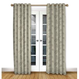Alderney Mink Eyelet curtains