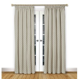 Arley Haze pencil pleat curtain