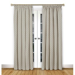 Arley Ivory pencil pleat curtain