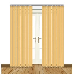 Aura Gold vertical blind