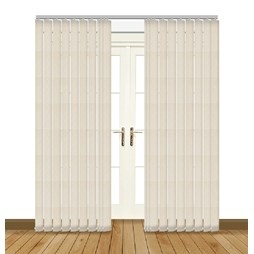 Aura White Vertical blind