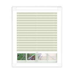 Basix White Perfect Fit Pleated Blind | Order White Conservatory Blind