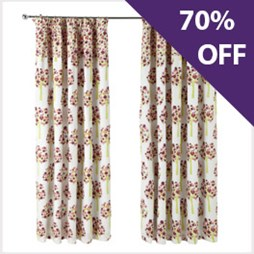 Birdhouse Brights - Pencil Pleat Curtains   Now 70% Off At Capricorn