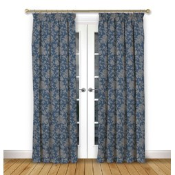 Charlbury Dusk pencil pleat curtains