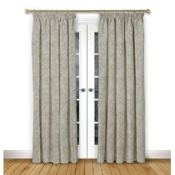 Charlbury Ivory pencil pleat curtains