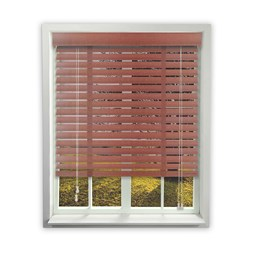 Chestnut Wooden Venetian Blinds