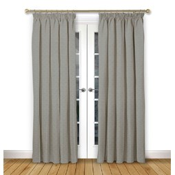 Cosmos Flint pencil pleat curtain