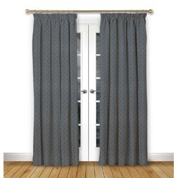 Cosmos Ink pencil pleat curtains