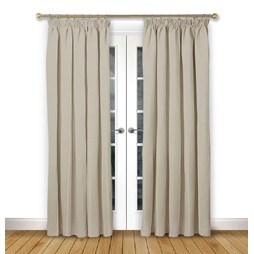 Cosmos Ivory pencil pleat curtains
