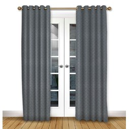 Cosmos Ink Eyelet Curtain