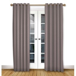 Cosmos Mulberry eyelet curtain