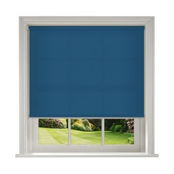 Banlight Duo blue roller blind