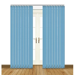 Eclipse Atlantex ASC Blue Vertical Blinds
