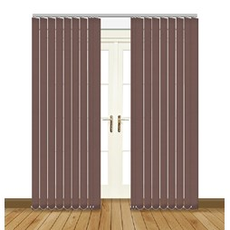 Eclipse Atlantex ASC Brown Vertical Blinds