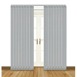 Eclipse Atlantex ASC Silver Vertical Blinds