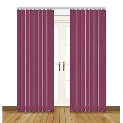 Eclipsee Atlantex Aubergine Vertical Blinds