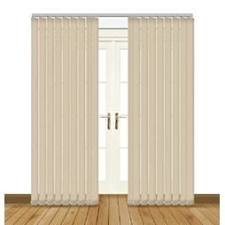 Banlight Duo Angora vertical blinds