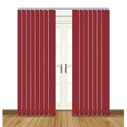 Eclipse Banlight Duo FR Cerise vertical blinds