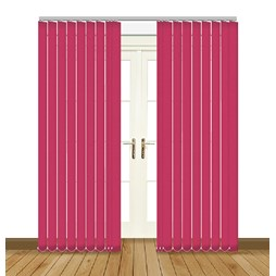 Banlight Duo Fuschia vertical blind