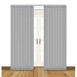 Eclipse Banlight Duo FR Grey Vertical Blinds