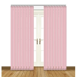 eclipse banlight duo fr angora pink vertical blinds