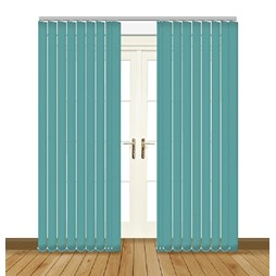 banlight duo FR angora turquoise Vertical blinds