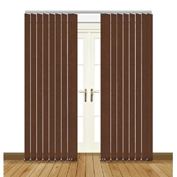 eclipse chancery chocolate vertical blinds