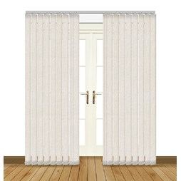 eclipse chenille cream vertical blinds