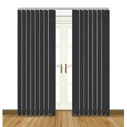eclipse flow black vertical blinds uk