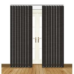 eclipse glint black vertical blinds