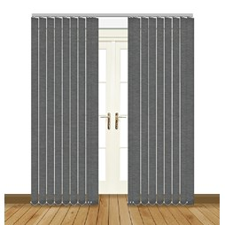 eclipse linenweave charcoal vertical blinds uk