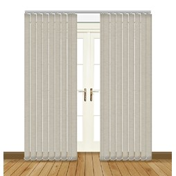 Linenweave Silver Vertical Blinds