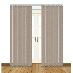 Linenweave Taupe Vertical blinds uk