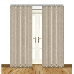 Eclipse luxe sand vertical blinds uk